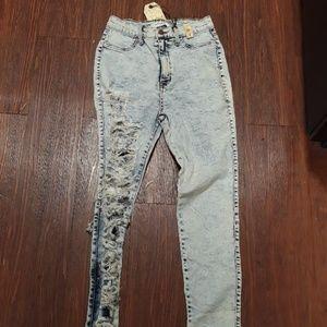 High waist  Acid stretch jeans size 9